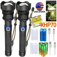 350000 lúmenes XHP70 XHP50 USB Recargable linterna antorcha Zoom nos luz de la batería