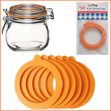 6 Jar Seal Sealing Rings Rubber O-Ring Rubber Mason Lid Canning Preserve Tala