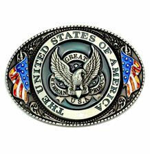 American Eagle USA Belt Buckle Man Southwestern Mens Cowboy Western Metal