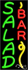 "NEW ""SALAD BAR"" 32x13 W/LOGO VERTICAL REAL NEON SIGN w/CUSTOM OPTIONS 11023"