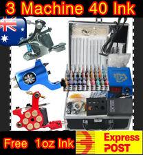 Tattoo Kit 3 New  Machine Gun Rotary Power Needles 40 Ink 1039