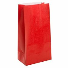 BIRTHDAY PARTY PAPER FAVOUR LOLLY TREAT GIFT BAGS SACKS 12 PACK