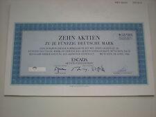 Alemania-Escada AG 10 x 50 dm 1986 1/363
