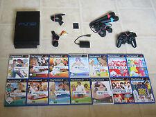 Playstation 2 komplett mit Controller + 4 Singstar Spiele + Micros + MC PS2 PS 2