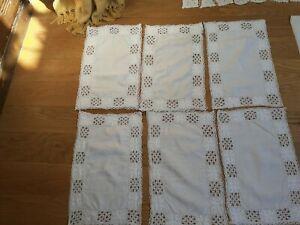 Job Lot Linen cloths crochet  antique/vintage