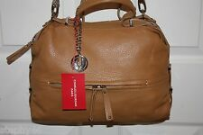 NEW! NWT! CHARLES JOURDAN Tan Leather JANET Satchel Crossbody Shoulder Bag $425