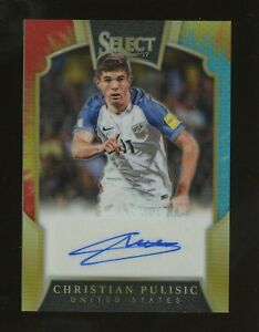 2016-17 Panini Select Tri-Color Prizm Soccer Christian Pulisic AUTO 25/25
