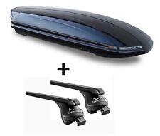 Caja de techo vdpmaa 580 L + barras de techo Acostado Peugeot 4008 12