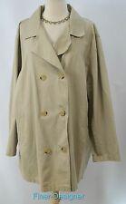 Avenue trench Coat jacket stadium tunic top chino khaki Womens Plus SZ 18 20 NEW