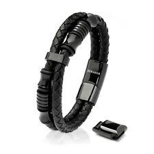 SERASAR Leder Armband Herrenarmband für Männer mit Schmuckschachtel