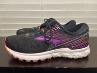 Brooks Adrenaline GTS 19 Black/Purple/Coral Women's Running Shoes Size 11