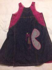 OILILY 152 (11-12) Denim Butterfly Girl Jumper Dress
