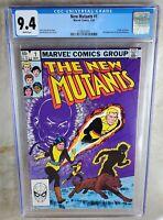 New Mutants #1 Origin of Karma -  Marvel 1983 CGC 9.4 NM White Pages Comic J0068