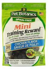 Pet Botanics Grain Mini Training Reward Chicken Flavor Dog Treats 4 Oz.