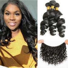 100% Brazilian Virgin Human hair Extensions Loose wave 3 Bundles Weave Weft 150G