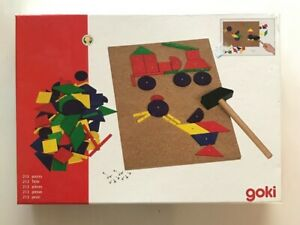 Goki  Hammering Wooden Shape Model Making Board Game