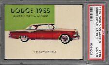1955 TOPPS WORLD ON WHEELS #179 DODGE ROYAL LANCER RED BACK PSA 9 1/1
