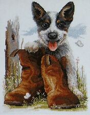 Bluey's Boots by Fiona Jude Cross Stitch Kit FJ-1024 Australia 9329809012627 NEW