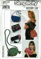 Simplicity 8938 Sewing Pattern Womens Bags Clutch