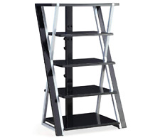 "Audio Video Tower 48"" Media Storage Cd Dvd Rack Shelf Organizer Holder Stand"