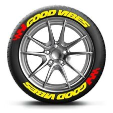 """TIRE LETTERS 1.25"""" GOOD VIBES (YELLOW) 15""""16""""17""""18"""" 19"""" 20"""" 21"""" 22"""""""