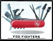 MINT & SIGNED Foo Fighters EMEK Boston Fenway SPARKLE FOIL Poster 20/25