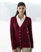 Damen Strickjacke mit V-Ausschnitt Baumwollmischung Jacke Übergröße XXS - 4XL