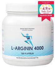 L-Arginin hochdosiert - 4000 - 320 Kapseln, 2-3 Monatskur,  Aminosäure, Premium
