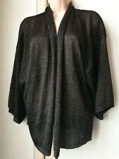 H&M Black/Gold Bronze Sparkly Shrug/Cover Up. Flapper Gatsby Deco Peaky