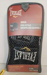 NEW NIP NIB Everlast Pro Style Grappling MMA Gloves Regular (S/M) Black