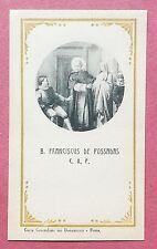 Santino Holy Card: Beatus Franciscus de Possadas C.O.P.
