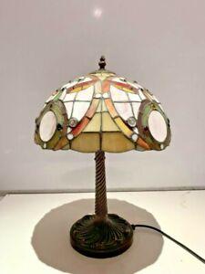 TIFFANY STYLE ART NOUVEAU TABLE LAMP