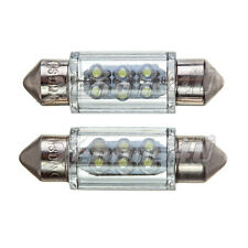 36mm 37mm 239 C5w 6 Led Interior o de la placa de licencia Festoon Luz Bombillas