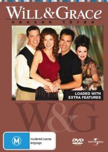 Will & Grace : Season 3 DVD (PAL, 2007, 4-Disc Set) VGC, FREE POST