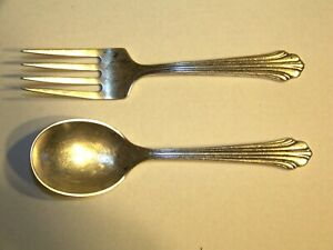 Child's Sterling Silver Fork and Spoon Set  Stieff