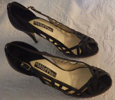 "Wild Pair Black High Heels Womens Shoes Size 7 1/2 B 3 3/4"" Heel 7.5 B"