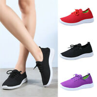 Women's Mesh Flat with Cotton Casual Stripe Sneakers Loafers Walking Soft Shoes
