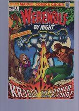 WEREWOLF BY NIGHT 8  / 1970S CLASSIC HORROR  SERIES  /  MARVEL COMICS