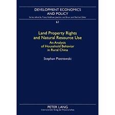 Land Eigentumsrechte und Nutzung natürlicher Ressourcen: eine Analyse-Taschenbuch NEU Stephan