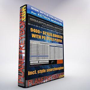 9400 Neue Styles für KETRON SD7 SD9 SD40 KST + PC Style Player als Download TOP!