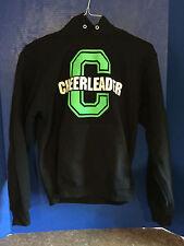 Cheerleader Black & Neon Green Sweatshirt (Adult Small)