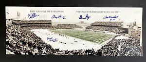 Purple People Eaters Page, Eller, Marshall + Signed 13x36 Photo Autographed COA