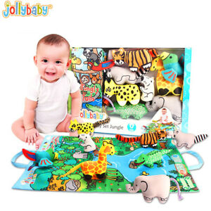 Jollybaby Baby Infant Toys Baby 3D Cloth Book Early Learning Educational Toys
