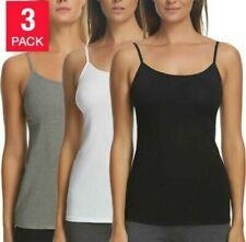 Felina Ladies' Cotton Stretch 3-Pack Camisole Variety