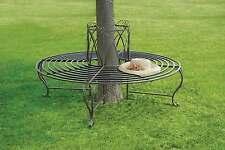 Tree Seat  Circular Garden Bench Antique Bronze Finish Gothic Arch Design
