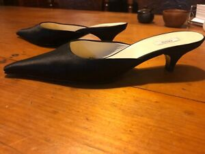 Lovely satin Prada mules size 39. Bought in Italy and worn once.