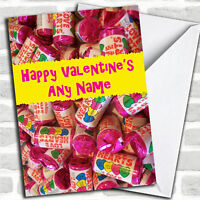 Funny Love Heart Sweets Romantic Personalised Valentine's Day Card