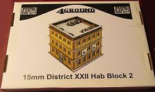 4Ground 15S-JUZ-102 15mm Sci-Fi Jesserai District XXII Hab Block #2 Terrain NIB