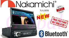 "NEW 7"" Nakamichi NA1850 1 Din GPS Ready Touch Screen Bluetooth USB DVD CD Player"