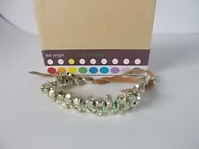 Lee Angel Color Therapy Mint Suede Gold ball Friendship Bracelet NIB Set of 3